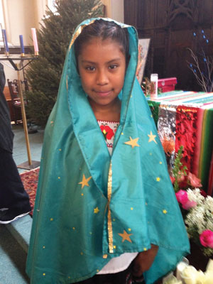 Vanessa (last name withheld), 10, was chosen to play the Virgin of Guadalupe when the children of Trinity of Manhattan [N.Y.] Lutheran Church acted out the story last December.