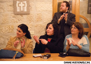 Worshipers attend a deaf ministry service of the Evangelical Lutheran Church in Jordan and the Holy Land.