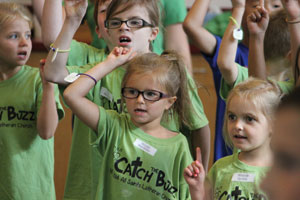 "Children at All Saints Lutheran Church, Palatine, Ill., used the ELCA Malaria Campaign's ""Catch the Buzz"" vacation Bible school curriculum."