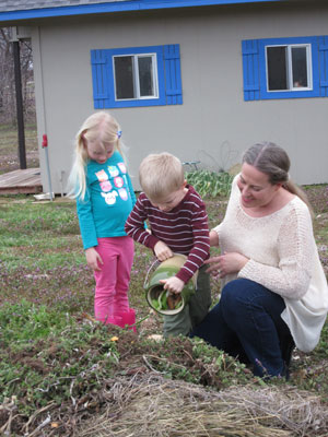 Kathleen Bronstad, a member of Messiah Lutheran Church in Weatherford, Texas, buys green products, recycles and composts with her kids.