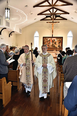 "BOB PARKER Earlier this year on the Feast of St. Brigid of Ireland, Scott Benhase (left) and H. Julian Gordy, bishops of the Episcopal Diocese of Georgia and the ELCA Southeastern Synod, respectively, consecrated the new building shared by St. Patrick's Episcopal and the Lutheran Church of Our Saviour in Albany, Ga., a sign of growing ecumenical relations since ""Called to Common Mission"" was passed 15 and 16 years ago by the two church bodies."