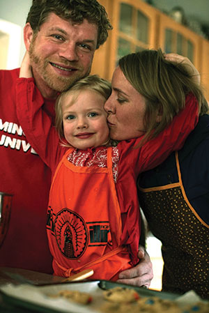 ELCA/BRETT NELSON Christoph Schmidt and Taryn Montgomery, shown with their daughter Magdalene, were ELCA Fund for Leaders recipients and are ministers in different settings. Montgomery is a pastor of Bread of Life Lutheran Church, Minot, N.D., and Schmidt is campus pastor at Minot State University.