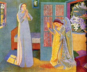 """""""Annunciation"""" (1913); oil on canvas by Maurice Denis(1870-1943; French)."""