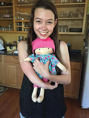 Susan Ferris had for 17 years tried to find a company that could make a doll with an arm and hand like her daughter's — Rachel, 17, Napa, Calif.