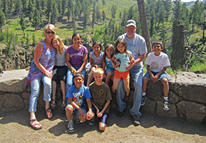 Natalia and Ron Parker and their eight children form a family of 10. After having two children, the couple felt called to adopt. They started out by becoming foster parents for Lutheran Family Services Rocky Mountains.