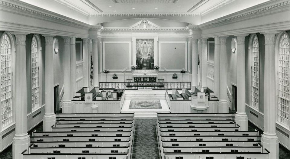 Exceptional Churches In Albany Ny #1: NY-Albany-First-interior-ca-1950s-960x526.jpg