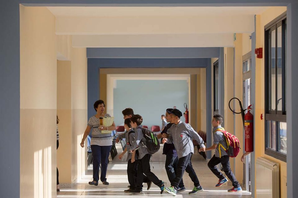 The first day of school at the new Evangelical Lutheran School of Hope in Ramallah on Saturday 26 August, 2017.