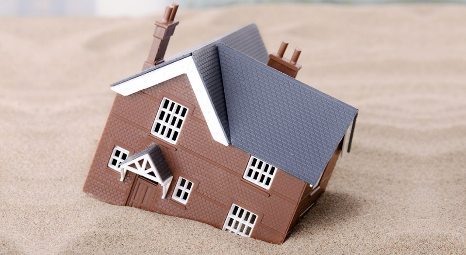 A house built on sinking sand