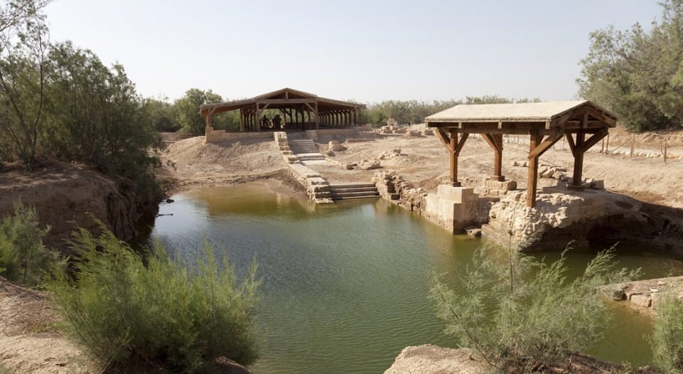 This site, Betania at Jordan River in Jordania, is considered to be the site of the baptism of Jesus following UNESCO-sponsored excavations.