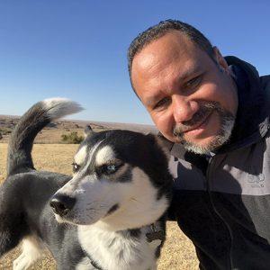 Pastor and dog