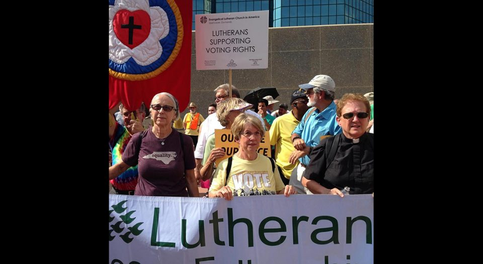 LPF members have marched and taken action with the Moral Monday movement in Raleigh, N.C., since 2013.