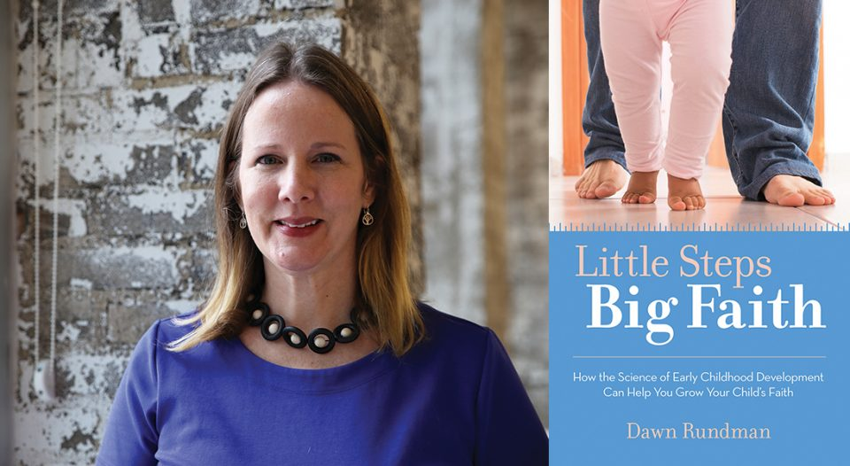 Dawn Rundman with cover of Little Steps, Big Faith