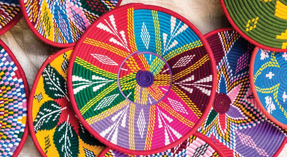 Ethiopian Habesha baskets