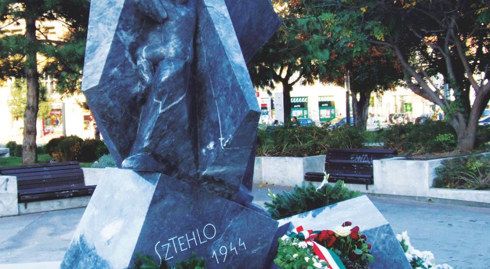 A monument to Gábor Sztehlo