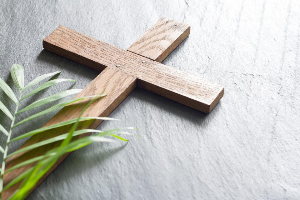 cross and palm
