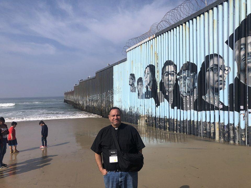 ELCA pastor at the border wall.