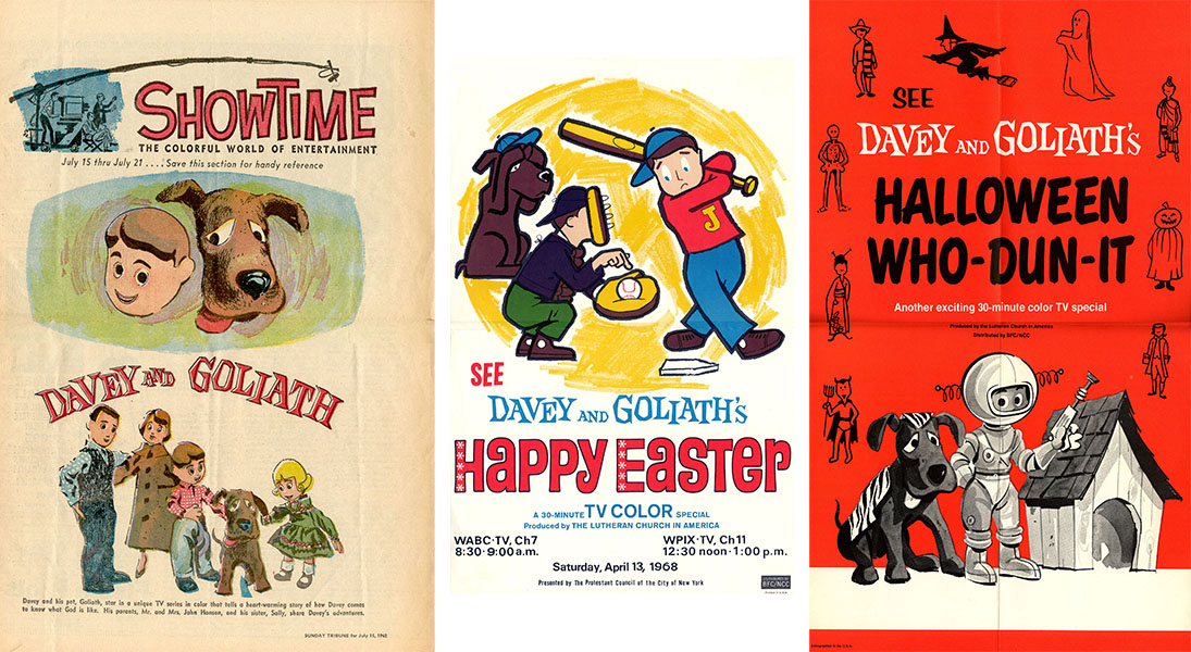 Davey and Goliath specials posters
