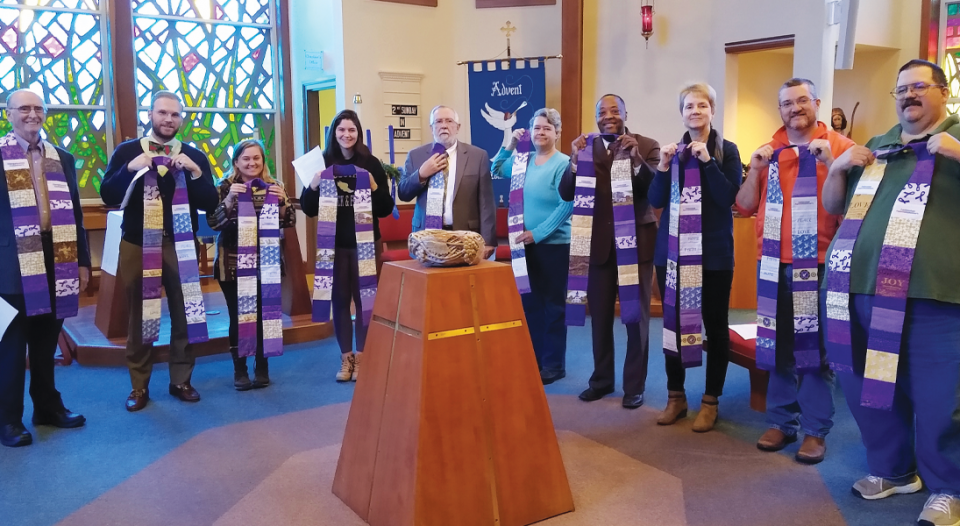Dementia Through a Pastoral Theological Lens Lutheran Theological Southern Seminary students participate in a commissioning service and receive stoles. The stoles are handmade by Lynda Everman, an advocate on behalf of people with dementia.