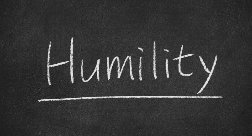 Humility written on blackboard